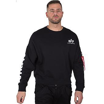 Alpha Industries Herren Sweatshirt Sleeve Print OS
