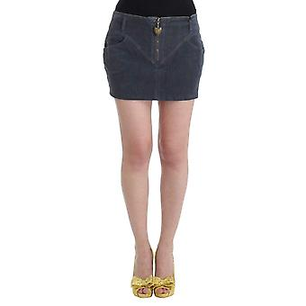 Blue corduroy mini skirt