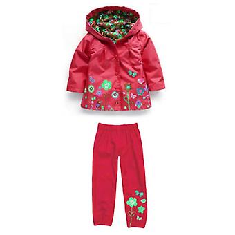 Hooded raincoat and Trousers Waterproof set