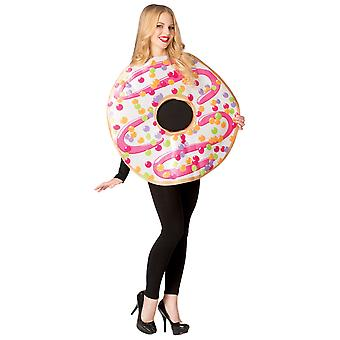 Donuts White Frosted Food Treat Snack Book Week Adult Mens Womens Costume OS