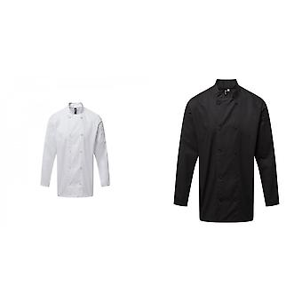 Premier Mens Coolchecker Long-Sleeved Chef Jacket