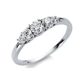 Luna Creation Promessa Ring Multiple Stone Trim 1U456W854-3 - Ring Width: 54