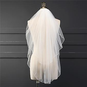 Two Layer Veil With Comb, Wedding Soft Tulle Short Woman Bridal Veils