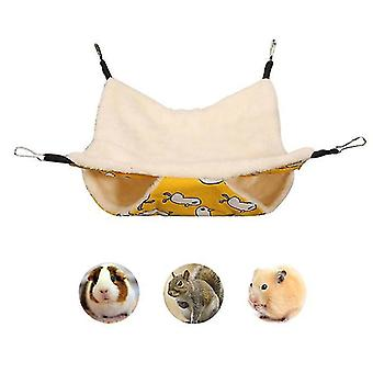 Hammock 2 Tier For Bunkbed Sugar Glider Hammock,guinea Pig Cage Accessories Bedding, Warm Hammock For Parrot Ferret Squirrel Hamster Rat Play Sleep