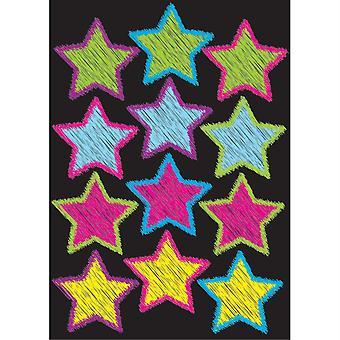 Die-Cut Magnetic Scribble Stars, 12 Pieces