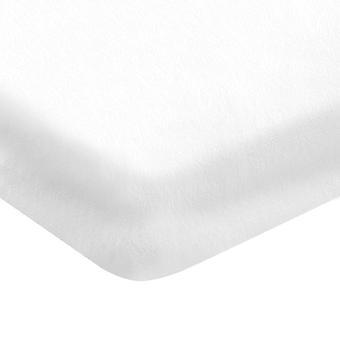 Ark med hörn en vit färg i bomull, L90xP200 cm