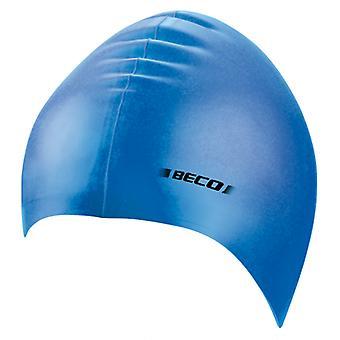 BECO Junior Silicone Swimming Cap - Blue