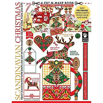 Scandinavian Christmas Cut-N-Make Book - Folksy Scandinavian Paper Cra