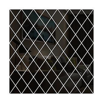 Diy 3d الماس مثلثات الاكريليك جدار مرآة ملصقا