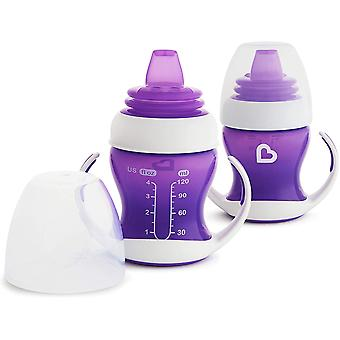 Munchkin Gentle Transition Trainer Cup 125ml Purple x 2 Cups