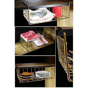 Bodem hanger kangoeroe plank mand verguld metalen opknoping organisator