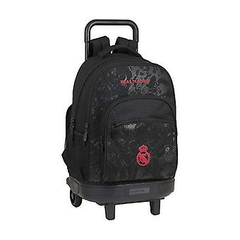 School Rucksack with Wheels Compact Real Madrid C.F. Black