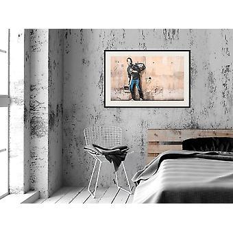 Pôster - Banksy: O Filho de um Migrante da Síria-45x30