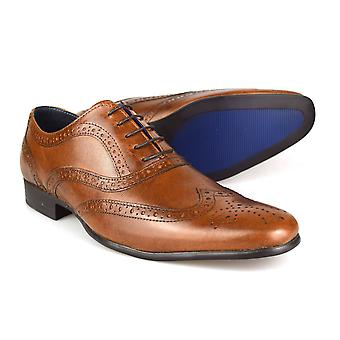 Red Tape Carn 2 Tan Leather Men's Brogue Dress Shoes