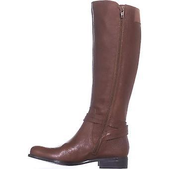 Naturalizer Womens jelina läder mandel tå knä höga mode stövlar