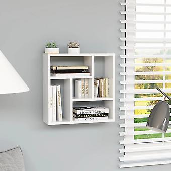 vidaXL جدار الجرف عالية اللمعان الأبيض 45.1 × 16 × 45.1 سم اللوح