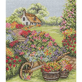 Anchor Cross Stitch Kit: Floral Wheelbarrow
