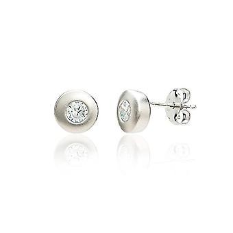 Eye Candy ECJ-ER0064 - Women's earrings, in 925 rhodium silver, with 2 round 8 mm white zircons
