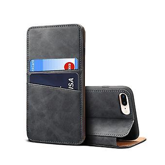 Slot per carte custodia in pelle portafoglio per iphonexr6.1 grigio scuro pc3579