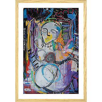 Odalisque abstrakcyjny plakat