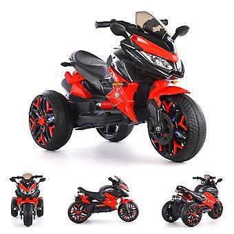 ES-Toys Kinder elektrische motorfiets driewieler 5118 koplamp batterij indicator Mp3 USB