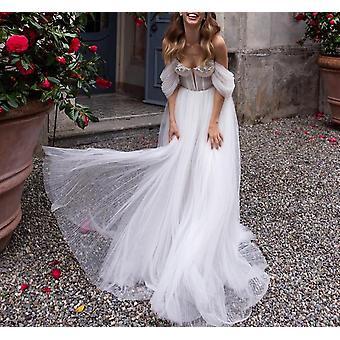 Off The Shoulder Long Sleeves Bride Dresses