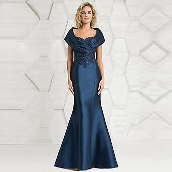 Latest Elegant Mermaid Lace Applique Cap Sleeve Mother Of The Bride Dresses (