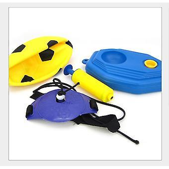 Yellow children football goal post set with ball pump indoor outdoor soccer sport games x4518