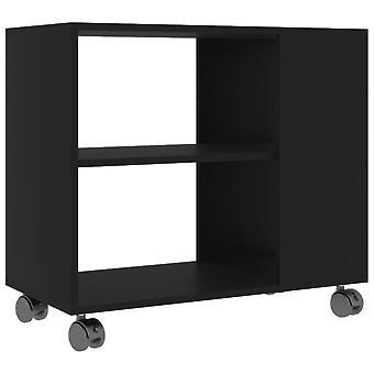 vidaXL Table d'appoint noir 70 x 35 x 55 cm Panneau de particules
