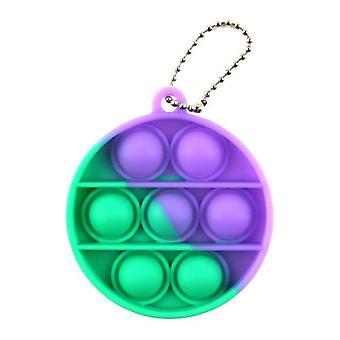 Yksinkertainen hymykuoppa fidget aisti lelu asettaa stressinlievitys lelu autismi ahdistuneisuus helpotus stressi pop kupla fidget aisti lelu lapsille aikuinen