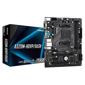 アスロック A520M-HDVP/ダッシュ AMD ソケット AM4 HDMI/VGA/DVI-D/ディスプレイポート マイクロ ATX USB 3.2 Gen1 マザーボード