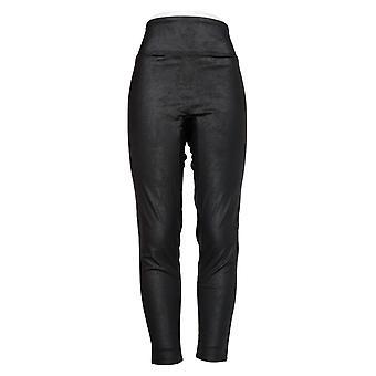 All Worthy Hunter McGrady Leggings Faux Leather Black A387467