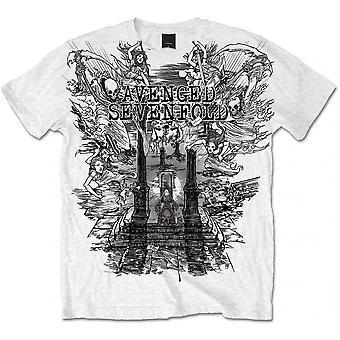 Avenged Sevenfold - Land of Cain Men's XX-Large T-Shirt - White