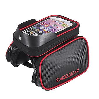Mobile phone bicycle front bag frame case tube touch screen bilateral