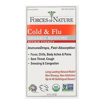 Forces of Nature Cold & Flu Maximum Strength, 10 ml
