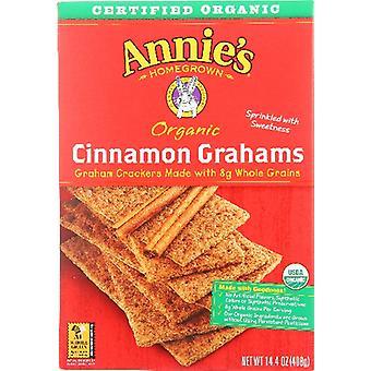 Annie's Homegrown Cracker Graham Cinnamon, Case of 12 X 14.4 Oz