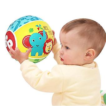 Mini baloncesto de toy, coloridos niños mini baloncesto de baloncesto de juego baketball de goma para niños (amarillo)
