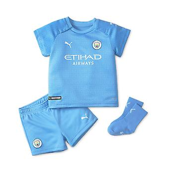 Puma Manchester City 2021/22 Infant Kids Baby Home Football Kit Blue