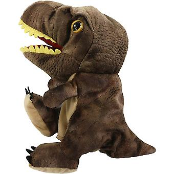 Peluche Dinosaur Hand Puppet T-rex Stuffed Toy Open Movable Mouth For Creative Role Play Gift For Kids Toddlers On Birthday Christmas, 10.5'' (style 1)