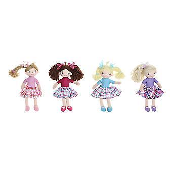 Rag Doll DKD Home Decor (4 pcs) (15 x 10 x 25 cm)