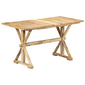 """שולחן אוכל vidaXL 118 x 58 x 76 ס""""מ מנגו מעץ מלא"""