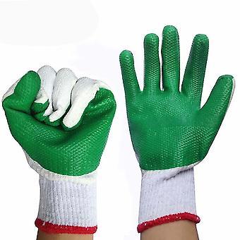 Rubber Pieces Work Gloves Non Slip Acid Alkali Resistant Anti Cut Gloves