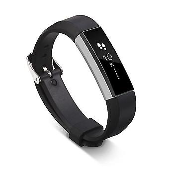 Correa de silicona suave de reemplazo para Fitbit Alta / Alta HR - Negro