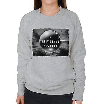 Universella bilder 1927 Svartvit logotyp kvinnors sweatshirt