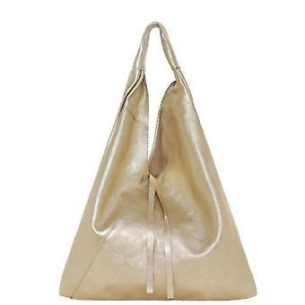 Guld metallisk Boho läderväska