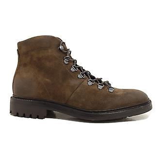 Loake Hiker Marron Cuir Daim Bruni Hommes Chaussures de Style Randonnée