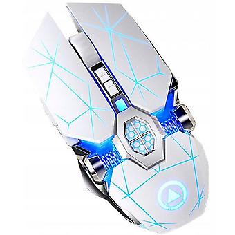 Smart Wireless Gaming Mouse Rechargeable Optical Led Backlit Colorful Light Ergonomic Comfortable A7