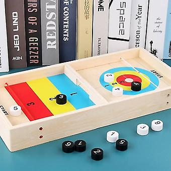 Tile games table curling game hockey wood table game interaction board game educational toys|strategy games