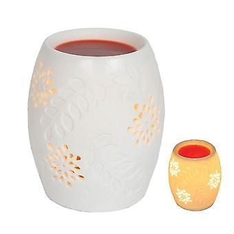 Air fresheners 12.5Cm electric white ceramic oriental floral wax melts burner