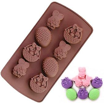 Easter Silicone Cake Easter Bunny Egg Cake Mold Candy Chocolate Diy Molds Cookie Fondant Baking Pan